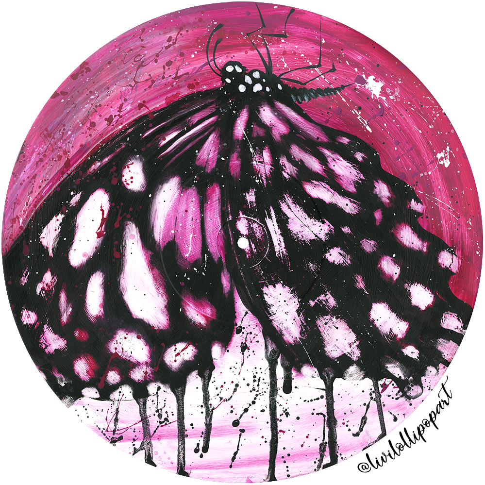 Butterfly pink - new blog