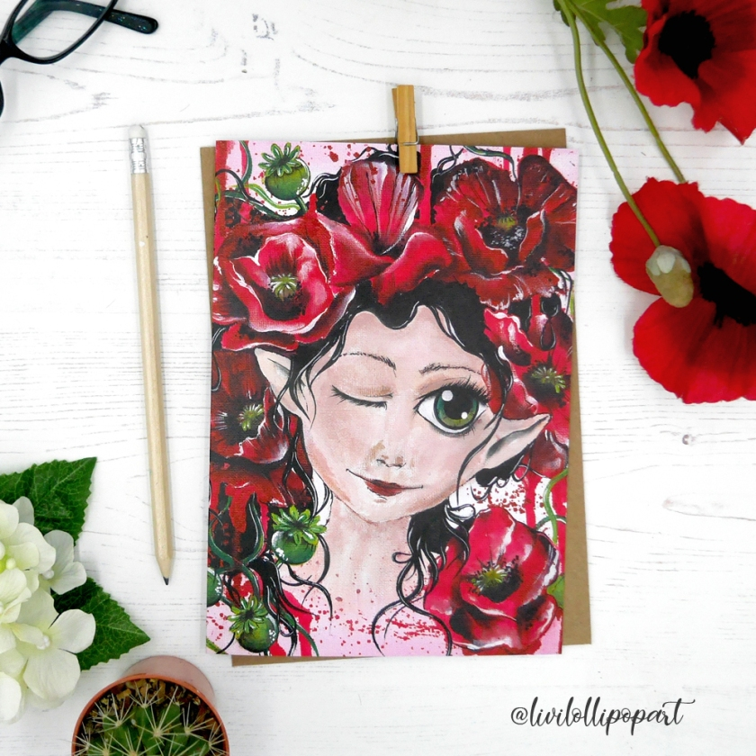 poppy card insta etsy