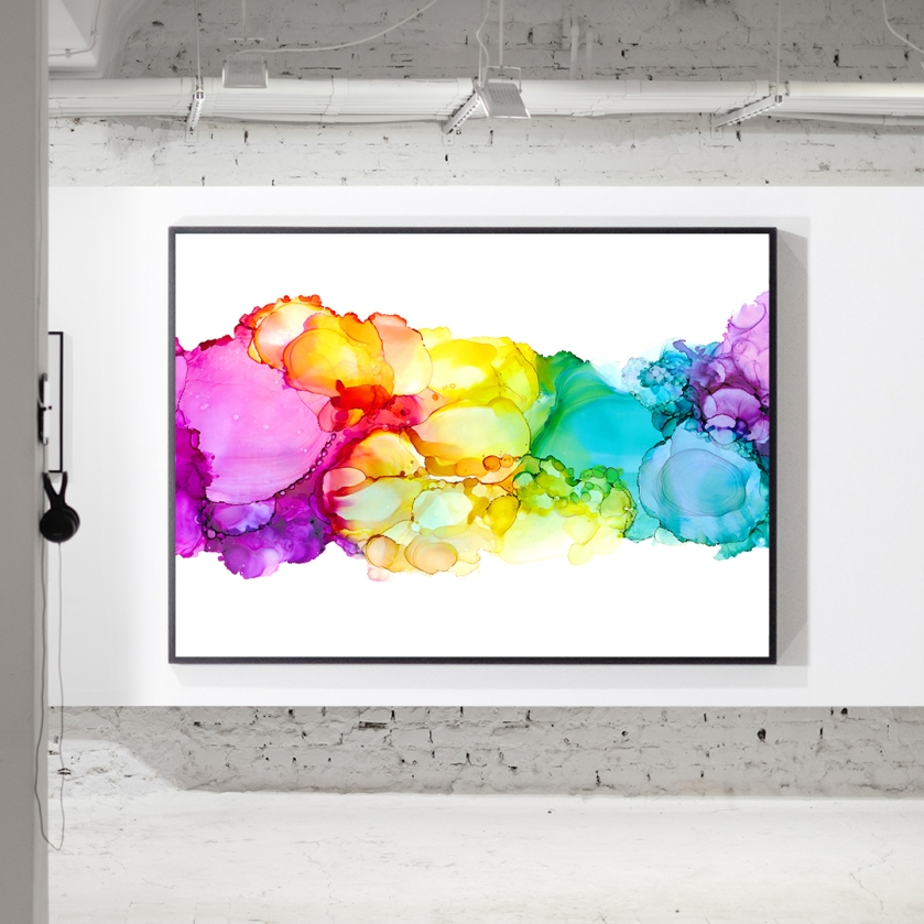 insta framed rainbow horizontal - white room